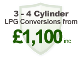 3-4 cyliner LPG conversion: £1,100inc