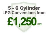 5-6 cylinder LPG conversions: 1,250inc